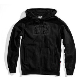 100% Syndicate Full-Zip Hoody Men, black/black foil